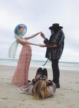 Behind the scenes photoshoot beach